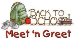 BACK TO SCHOOL - MEET & GREET/ORIENTATION