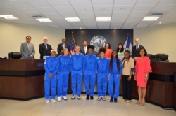 LADY CANES RECOGNIZED BY THE CITY OF NORTH LAUDERDALE
